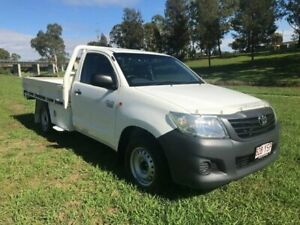 2012 Toyota Hilux TGN16R MY12 Workmate Glacier White 5 Speed Manual Cab Chassis Oakey Toowoomba Surrounds Preview