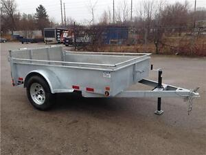 (2016) GALVANIZED SINGLE AXLE STEEL SIDE UTILITY TRAILERS