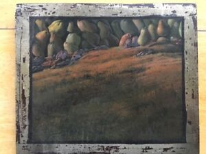 Small Oil Painting on wood by Orlin Mantchev
