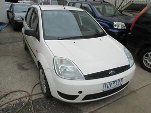 2004 Ford Fiesta WP LX White 5 Speed Manual Hatchback Tottenham Maribyrnong Area Preview