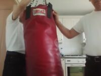 Red leather Punch Bag