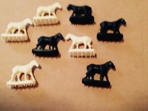 LIONEL 3356 WHITE 3356 BLACK HORSES VARIETY 8-HORSES REPRO NEW FRESH AUCTION