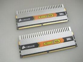 Corsair 4GB (2x2GB) 800Mhz 4-4-4-12 DDR2 XMS2 DHX RAM