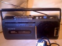 SONY PORTABLE RADIO CASSETTE PLAYER/RECORDER CFM-140L11 FULLY SERVICED AND IN EXCELLENT CONDITION.