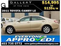 2011 Toyota Camry LE $139 Bi-Weekly APPLY NOW DRIVE NOW