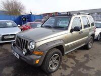 2005 05 reg jeep cherokee renegade 2.8 crd diesel 6 speed mot 1 year ex we 4x4 £1995