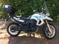 FOR SALE:2008 BMW F 650 GS MOTORCYCLE, LOW MILEAGE, VERY GOOD CONDITION GIVI TOPBOX CLEAR FLY SCREEN