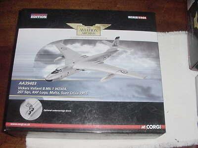 "2012Corgi Diecast Aircraft Model ""Vickers Valiant B.Mk.""1956, 1-144  Scale,  MIB"