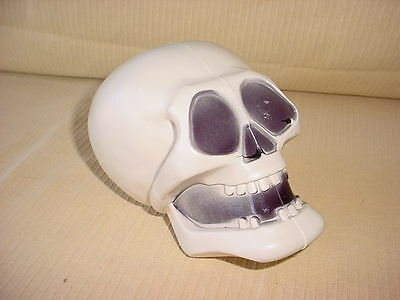 "7"" Halloween Blow mold HARD PLASTIC SKELETON SKULL Halloween decor"