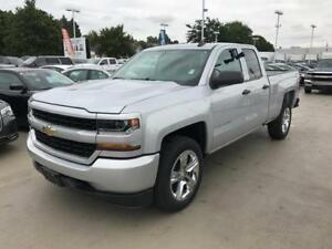 NEW 2018 Chevrolet Silverado 1500 DOUBLE custom 4x4 silver
