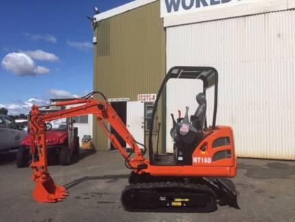 New WCM NT16D 1.6 tonne Mini Excavator