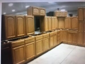 LAST SETS EVER OF ALL WOOD CUPBOARDS  BRAND NEW