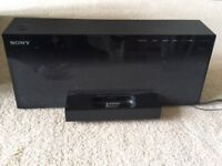 Sony Ipod dock with wireless subwoofer - very good condition