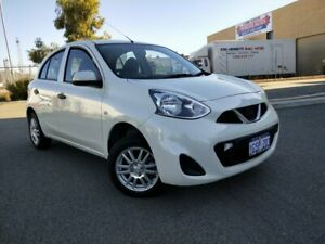 2015 Nissan Micra K13 MY15 ST White 5 Speed Manual Hatchback Malaga Swan Area Preview