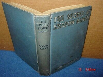 Vintage,Book,Nancy Drew,The Secret at Shadow Ranch,Rare