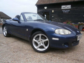 0251 MAZDA MX-5 1.8i SPORT CONVERTIBLE BLUE MET/BLACK LEATHER LAST OWNER 16 YEAR