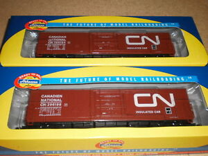 Athearn RTR  CN  boxcars   HO scale  x  4