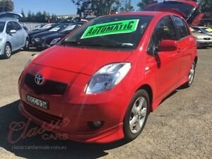 2006 Toyota Yaris NCP91R YRX Red 4 Speed Automatic Hatchback Lansvale Liverpool Area Preview