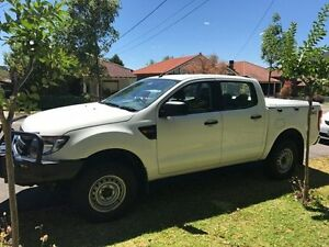 2013 Ford Ranger PX XL Double Cab White 6 Speed Sports Automatic Utility Croydon Burwood Area Preview