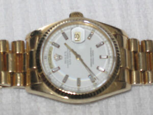 ROLEX PRESIDENTIEL EN--OR--GOLD 18K 100% ORIGINALE