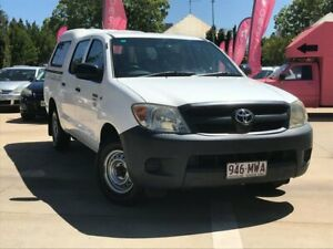 2007 Toyota Hilux TGN16R MY07 Workmate 4x2 White 5 Speed Manual Utility South Toowoomba Toowoomba City Preview