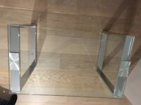 Tempered Glass Coffee table- used for 2 weeks only- H-44cm x L-70cm x D-40cm