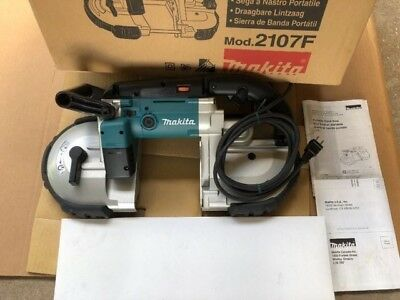 Makita Portable Band Saw Model #2107F WITH Milwaukee (100) Band Saw Blades