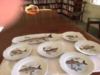 Stunning set of fish plates