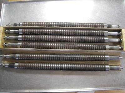 Set Of Six Folder Roller 44mm Lot Of 6 Used 24 Roller 32.5 Long Mbo Spiral