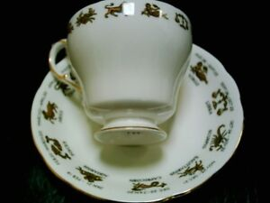 Zodiac teacup & saucer set