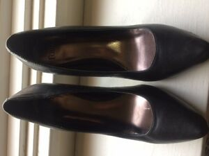 Faith Black Wide Fit High Court Shoes