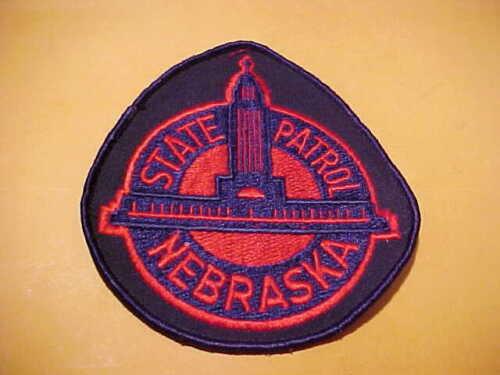 NEBRASKA STATE PATROL POLICE PATCH SHOULDER SIZE UNUSED BIG 5 1/4 X 4 3/4