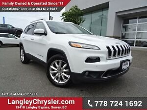 2015 Jeep Cherokee Limited ACCIDENT FREE w/ 4X4, TECHNOLOGY G...