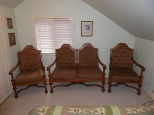 Elegant Antique Settee and Chairs