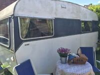 VINTAGE CLASSIC CARAVAN 1960'S WITH AWNING
