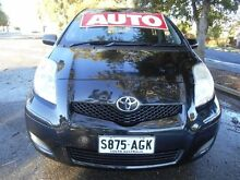 2010 Toyota Yaris NCP90R 08 Upgrade YR Black 4 Speed Automatic Hatchback Nailsworth Prospect Area Preview