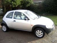Ford KA for sale with a year MOT, minimal rust and 2 new rear tyres. Very good runner