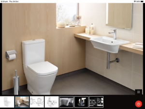 Toilet Suite AsNew - Roca Close Coupled back to wall Bottom Inlet- Highton Geelong City Preview