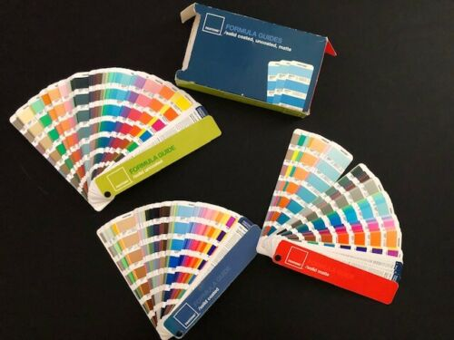 PANTONE SOLID FORMULA GUIDE 3 BOOKS Solid Coated, Uncoated & Matte Set