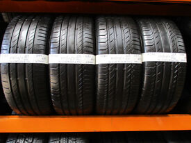 A284 4X 255/55/18 109V CONTONENTAL SPORT CONTACT 5 SSR RFT RSC SUV XL 2X6,5MM 2X7MM TREAD