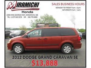 2012 Dodge Grand Caravan SE $13,888