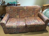 SOFA / SOFABED. Free to collector. Good for use as sofa. OK as occasional bed.