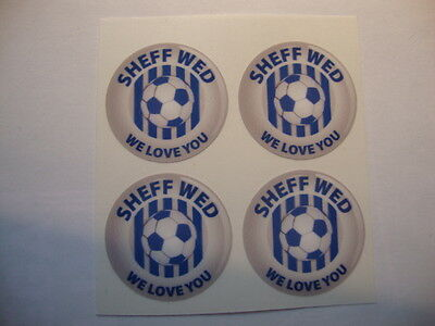 """12 SHEFFIELD WEDNESDAY 1"""" BOWLS STICKERS LAWN BOWLS FLAT GREEN CROWN GREEN BOWLS"""