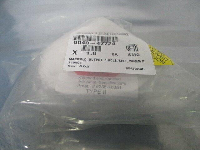 AMAT 0040-47724 Manifold, Output, 1 Hole, Left, 200MM, 451388
