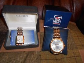 Royal Navy NEW unused wristwatch in box £65 + Seiko used in good condition wrist watch in box £35