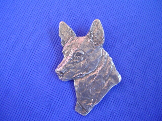Australian Cattle Dog Pewter pin #86C Herding dog jewelry by Cindy A. Conter