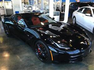 2015 Chevrolet Corvette Z51 3LT black 7 speed performance low km