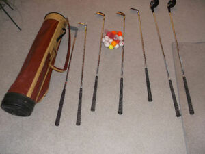 Golf Clubs & Balls & Bag & Tee's Plus Large Wooden Plaque