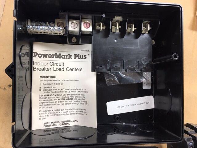 General Electric GE Main Lug Load Center w/ Circuit Breakers # TPL412C NIB NEW