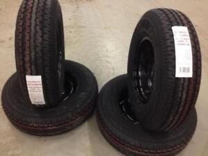 4 New Road Rider ST IV Tires and BlackRims (ST235/80R16)